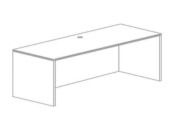 24x66 Credenza Shell in Espresso at Office Furniture Outlet