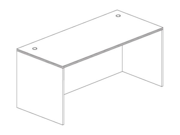 24x48 Desk Shell in Gray at Office Furniture Outlet