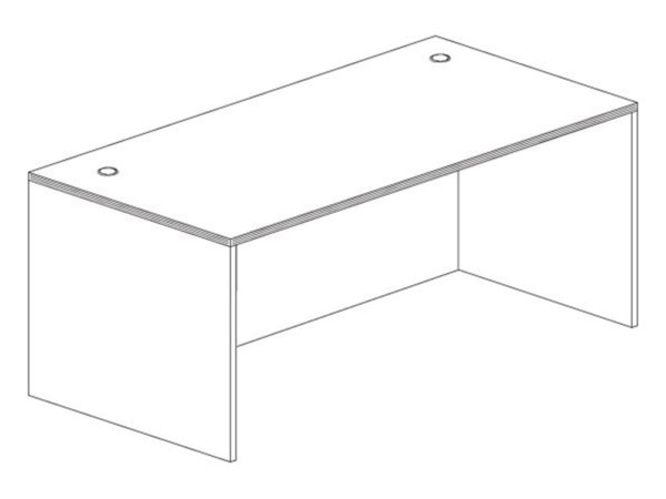 30x60 Desk Shell in Espresso at Office Furniture Outlet