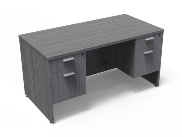 Find used KUL 30x60 desk w/ 2bf ped (gry)s at Office Furniture Outlet