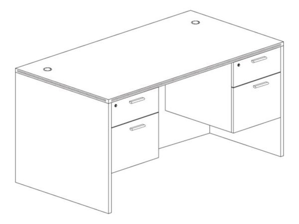 30x60 Desk in Gray at Office Furniture Outlet