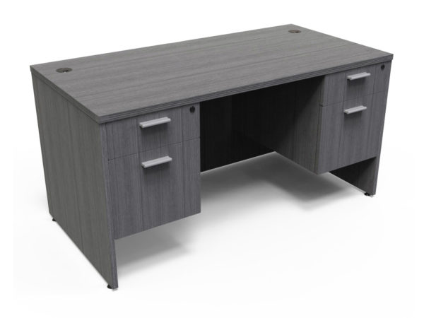 Find used KUL 30x66 desk w/ 2bf ped (gry)s at Office Furniture Outlet