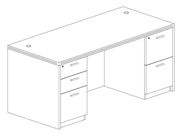 30x66 Desk in Gray at Office Furniture Outlet