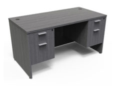 Find used KUL 36x71 desk w/ 2bf ped (gry)s at Office Furniture Outlet