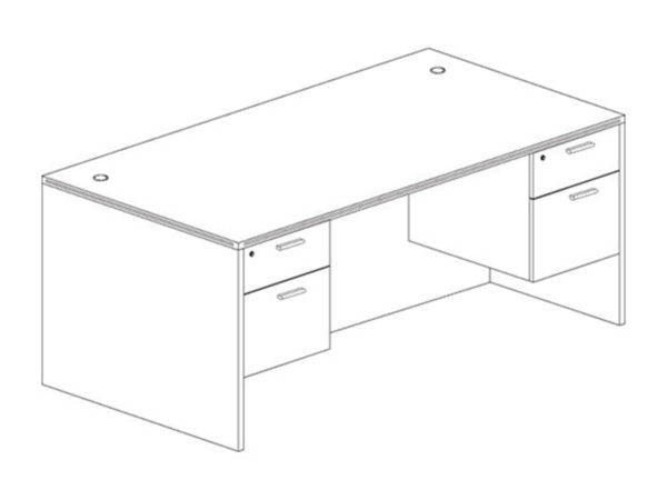 36x71 Desk in Gray at Office Furniture Outlet