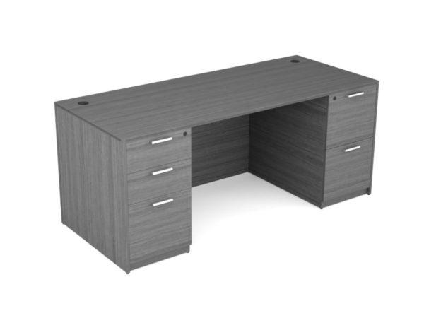 Find used KUL 36x71 desk w/ 1bbf and 1ff ped (gry)s at Office Furniture Outlet