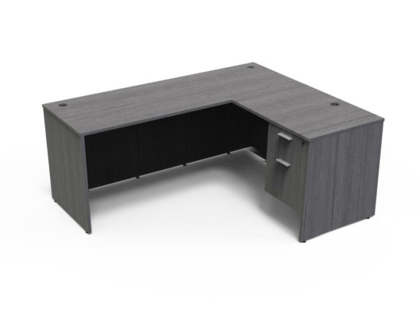 Find used KUL 60x72l desk w/ 1bf ped (gry)s at Office Furniture Outlet