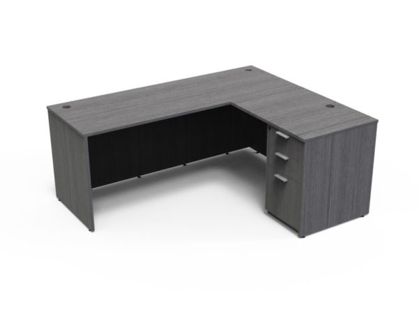 Find used KUL 60x72l desk w/ 1bbf ped (gry)s at Office Furniture Outlet