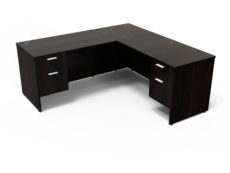 Find used KUL 66x72l desk w/ 2bf ped (esp)s at Office Furniture Outlet