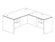 Office Furniture Outlet New 66x72L Desk