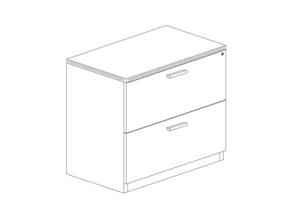 30 2 Drawer Laminate Lateral File in Espresso at Office Furniture Outlet