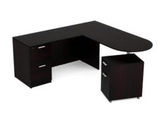 Find used KUL 71x72 d-top l-shape desk w1 ff and 1 mobile ped bf (esp)s at Office Furniture Outlet
