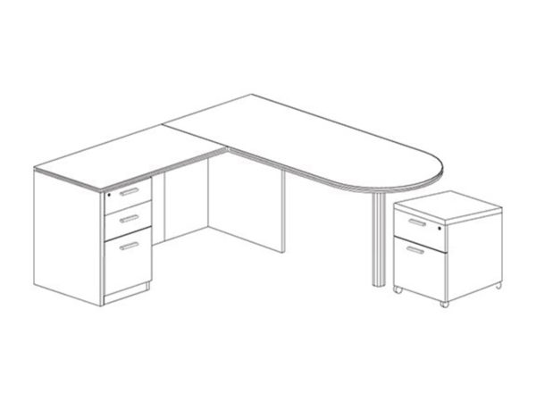Office Furniture Outlet New 71x72 D-Top L-Shape Desk