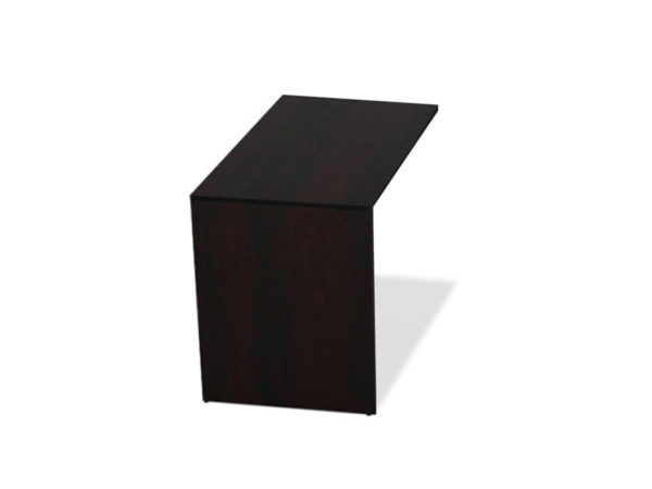 24x42 Return Shell (Non-Handed) in Espresso at Office Furniture Outlet