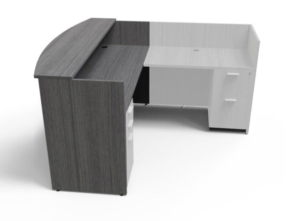 Find used KUL 3036x71 recepetion desk shell (no return) (gry)s at Office Furniture Outlet