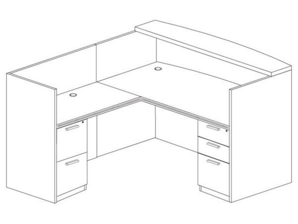 Office Furniture Outlet New 71x72 L-Shape Reception Desk (Left)