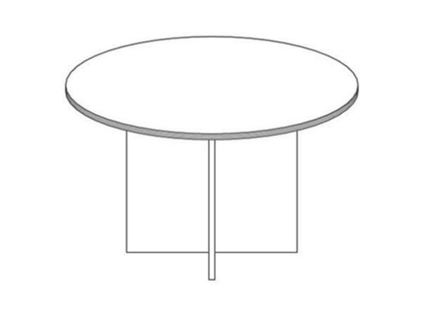 42 Round Meeting Table in Espresso at Office Furniture Outlet