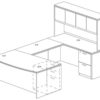 Office Furniture Outlet New 71x108 Bow Front U-Shape Desk + Hutch (Wood)