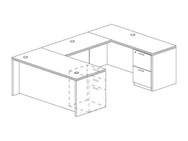 Office Furniture Outlet New 71x108 U-Shape Desk