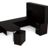 Find used KUL 71x102 d-top u-shape desk + hutch (wood doors) w 1ff and 1 bf ped (esp)s at Office Furniture Outlet