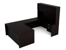 Find used KUL 71x108 u-shape desk + hutch (wood doors) w 2 bf ped (esp)s at Office Furniture Outlet