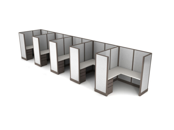 Buy new 5x5 5pack inline cubicles by KUL at Office Furniture Outlet - Orlando