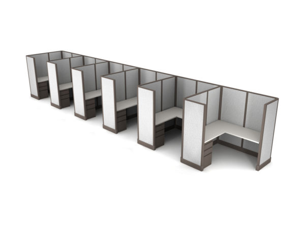 Buy new 5x5 6pack inline cubicles by KUL at Office Furniture Outlet - Orlando