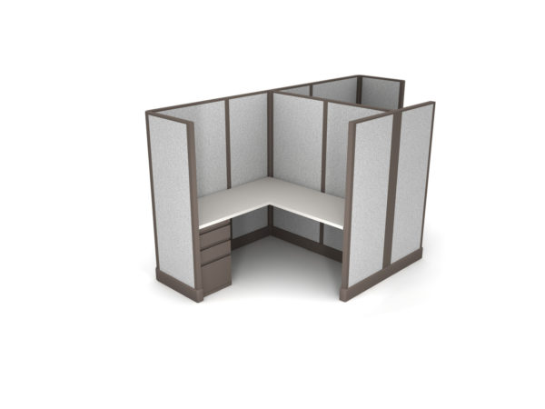 Buy new 5x5 2pack cluster cubicles by KUL at Office Furniture Outlet - Orlando
