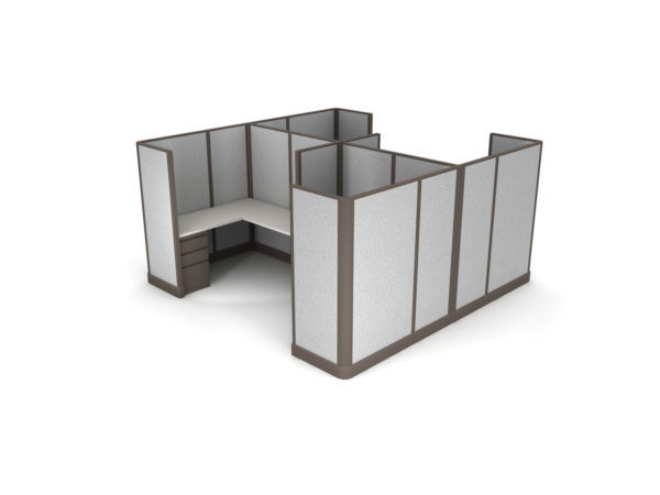 Buy new 5x5 4pack collaborative cluster cubicles by KUL at Office Furniture Outlet - Orlando
