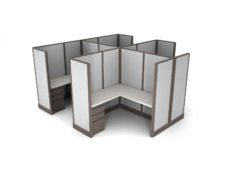 Buy new 5x5 4pack cluster cubicles by KUL at Office Furniture Outlet - Orlando