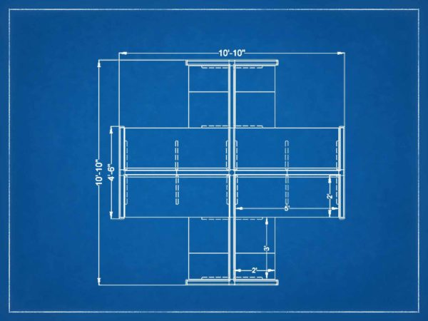 New 4Pack Cluster L Shape 5x5 cubicles in Orlando