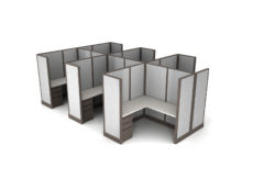 Buy new 5x5 6pack cluster cubicles by KUL at Office Furniture Outlet - Orlando