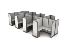 Buy new 5x5 8pack cluster cubicles by KUL at Office Furniture Outlet - Orlando