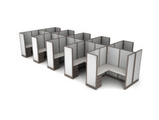 Buy new 5x5 10pack cluster cubicles by KUL at Office Furniture Outlet - Orlando