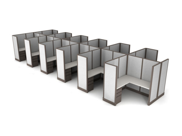 Buy new 5x5 12pack cluster cubicles by KUL at Office Furniture Outlet - Orlando