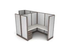 Buy new 6x6 single 2 shared spine pack cubicles by KUL at Office Furniture Outlet - Orlando