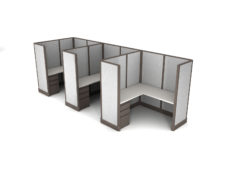 Buy new 6x6 3pack inline cubicles by KUL at Office Furniture Outlet - Orlando