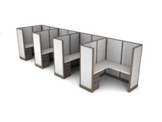 Buy new 6x6 4pack inline cubicles by KUL at Office Furniture Outlet - Orlando