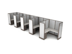 Buy new 6x6 5pack inline cubicles by KUL at Office Furniture Outlet - Orlando