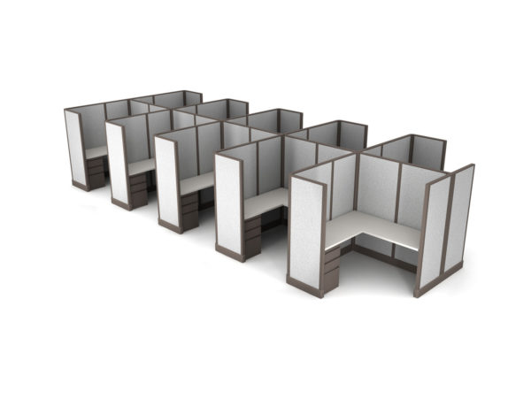 Buy new 6x6 10pack cluster cubicles by KUL at Office Furniture Outlet - Orlando