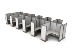 Buy new 6x6 12pack cluster cubicles by KUL at Office Furniture Outlet - Orlando
