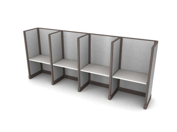 Buy new 36W 4pack inline cubicles by KUL at Office Furniture Outlet - Orlando