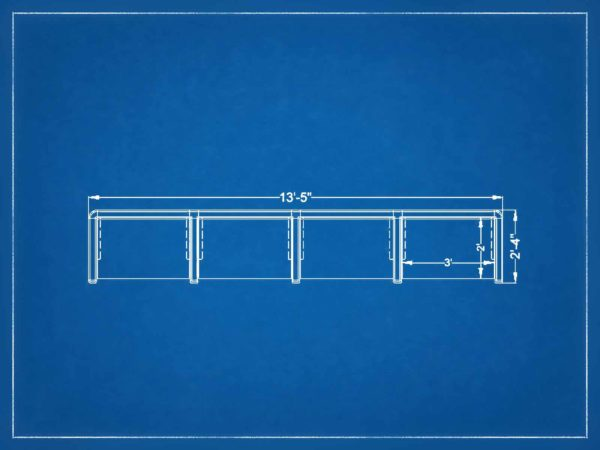 New 4Pack Inline Single 36W cubicles in Orlando
