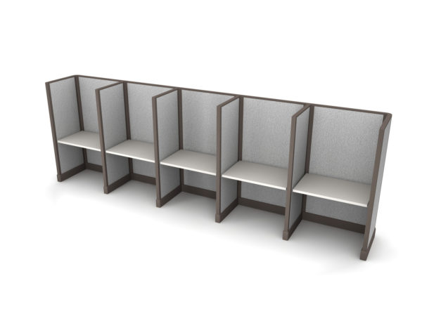Buy new 36W 5pack inline cubicles by KUL at Office Furniture Outlet - Orlando
