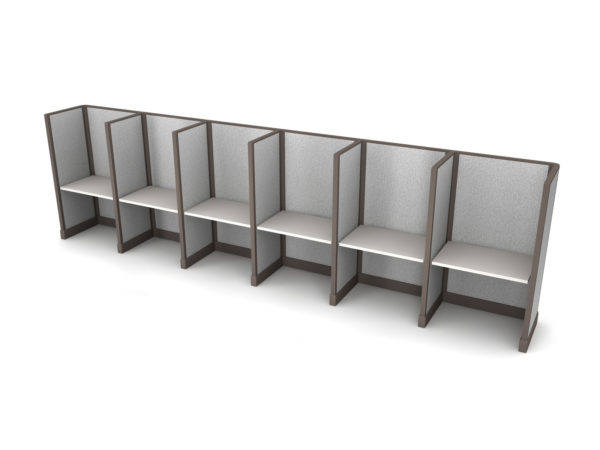 Buy new 36W 6pack inline cubicles by KUL at Office Furniture Outlet - Orlando