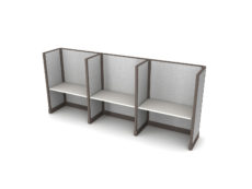 Buy new 48W 3pack inline cubicles by KUL at Office Furniture Outlet - Orlando