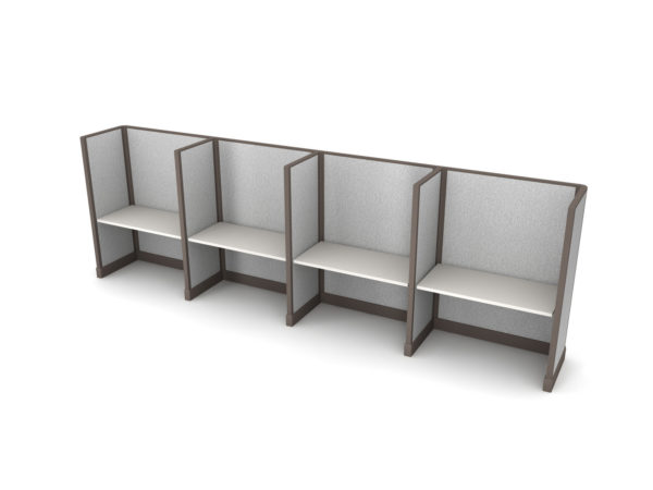 Buy new 48W 4pack inline cubicles by KUL at Office Furniture Outlet - Orlando