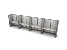 Buy new 60W 4pack inline cubicles by KUL at Office Furniture Outlet - Orlando