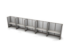 Buy new 60W 5pack inline cubicles by KUL at Office Furniture Outlet - Orlando