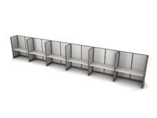 Buy new 60W 6pack inline cubicles by KUL at Office Furniture Outlet - Orlando